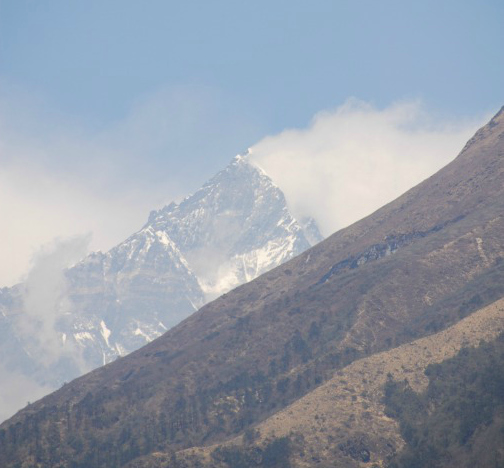 first glimpse of Everest