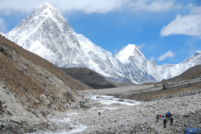 final stretch to Lobuche