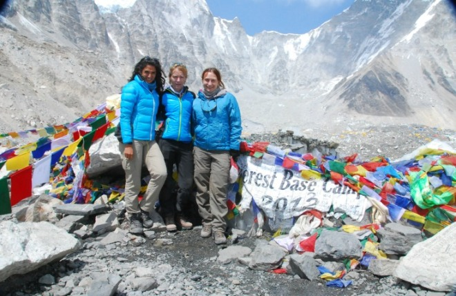 The girls of our expedition.  From the left: Raha, me, Siobhan